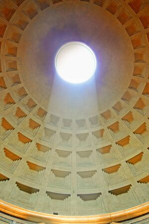 Pantheon with sunlight