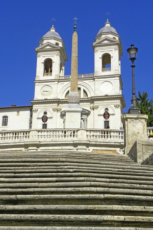 monti: The Spanish Steps in Rome Italy Stock Photo