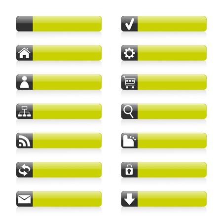 Web Buttons Stock Vector - 9196437