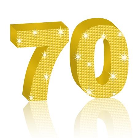 Golden Number Seventy Illustration