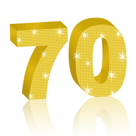 seventy: Golden Number Seventy Illustration