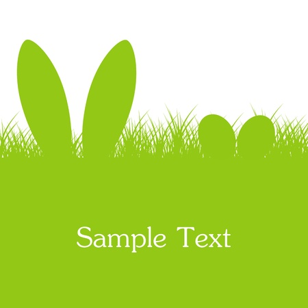 Easter Green Background Vector