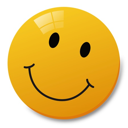 laugh emoticon: Funny Button Illustration