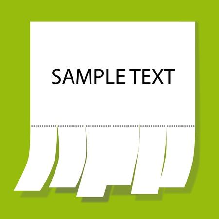 Notice Paper Stock Vector - 9347350