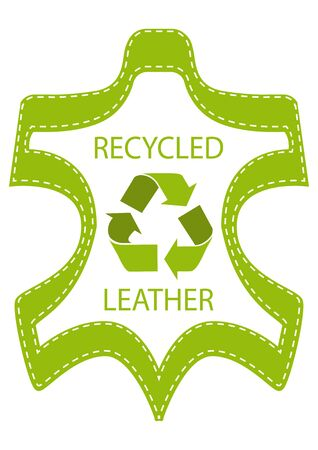Recycle Leather Lable Vector