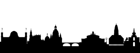 provincial: Dresden Skyline abstract Illustration
