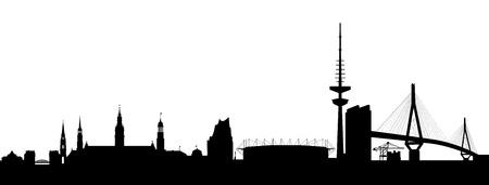 Hamburg Silhouette black abstract