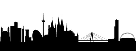 Cologne Skyline abstract Vector