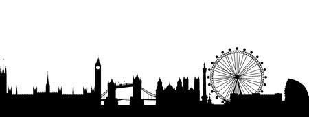 Skyline van Londen abstract Stock Illustratie