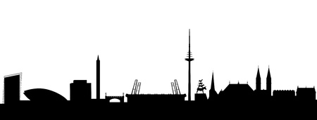 provincial: Bremen Skyline abstract Illustration