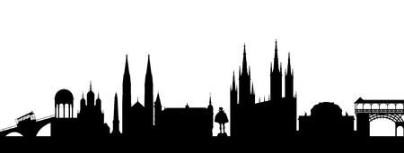 provincial: Wiesbaden Silhouette abstract Illustration
