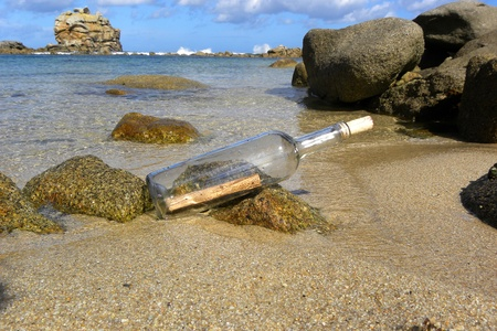 message in bottle: Message Stock Photo