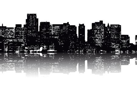 뉴욕의 스카이 라인 스톡 콘텐츠