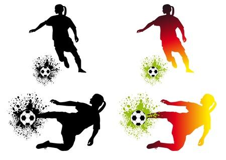 Women soccer Vector
