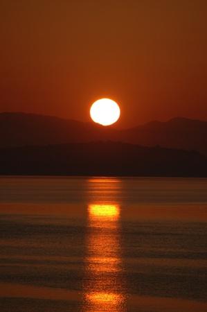 Sunrise over the sea photo
