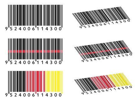 Various Bar Codes Vetores