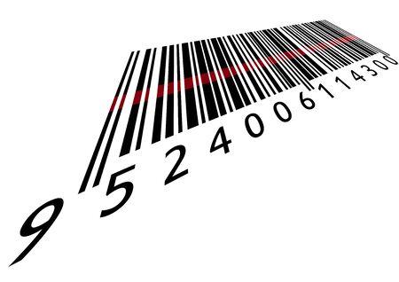 Barcode met laser Vector Illustratie