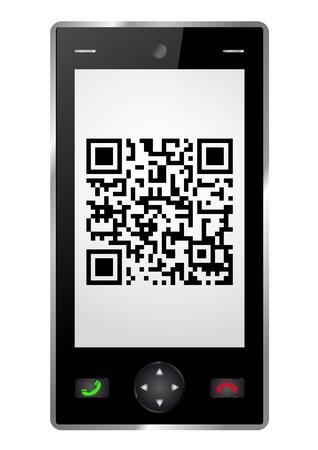 Handy with QR-Code Vector