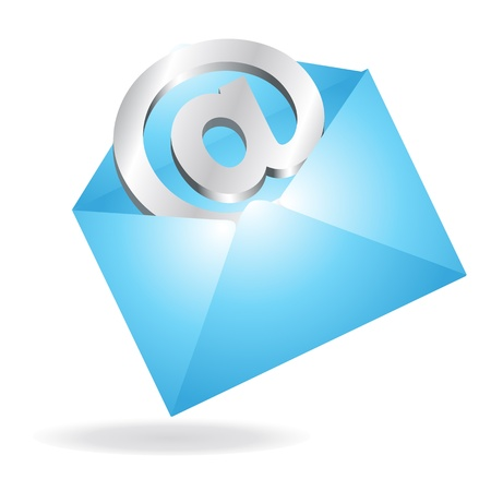Email in a Letter Vector