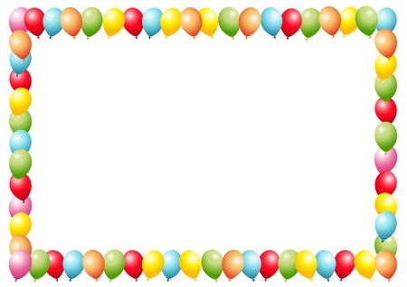 Balloons as a frame Ilustracja