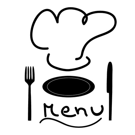 Menu black and white Stock Vector - 10267242