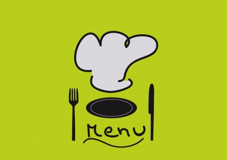 retro kitchen: Menu abstract