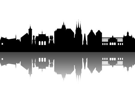 Erfurt Skyline abstract Stock Vector - 10267246
