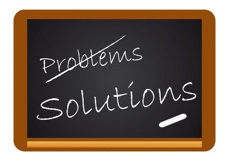 Calkboard Problems/Solutions Stock Vector - 10040180
