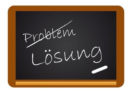 Chalkboard Problem/Loesung Stock Vector - 10040183