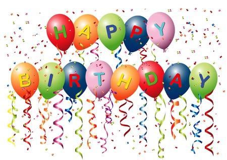 Happy Birthday Balloons Stock Vector - 10040186