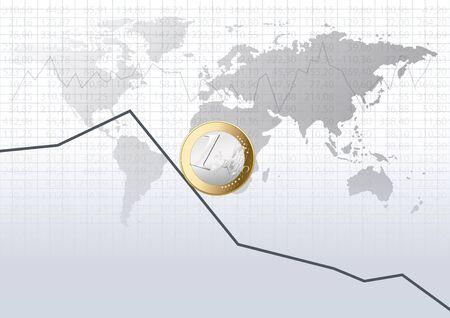 stock market crash: Stock market crash Illustration