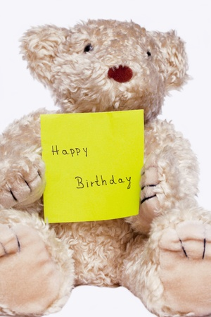 apology: Bear Happy Birthday Stock Photo