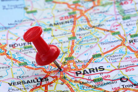 pin point: Paris with pin