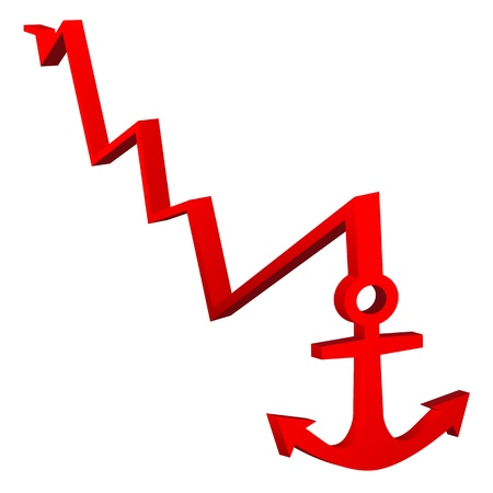 power point: Red Anchor Illustration