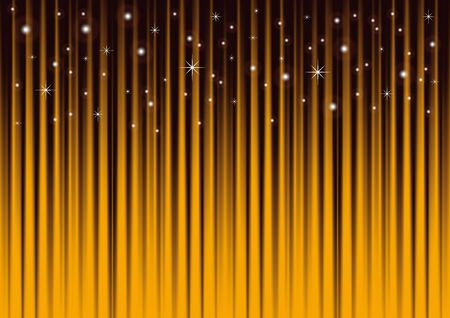 Stars on gold striped background Vector
