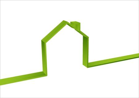 materiali edili: Green House isolato Vettoriali
