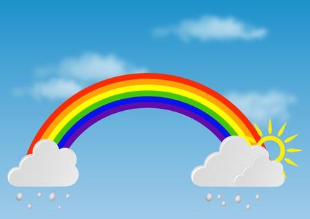 arcobaleno astratto: Arcobaleno abstract Vettoriali