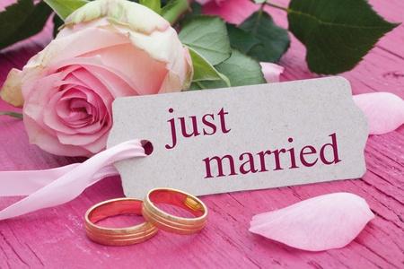 recien casados: Reci�n casados Foto de archivo