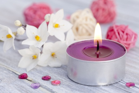 Wellness with candle light photo