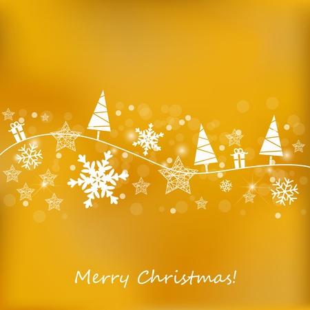 Golden Christmas Background Stock Vector - 11195370