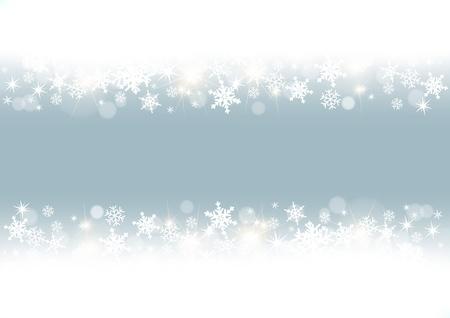 sopel lodu: biała ramka płatki śniegu Ilustracja