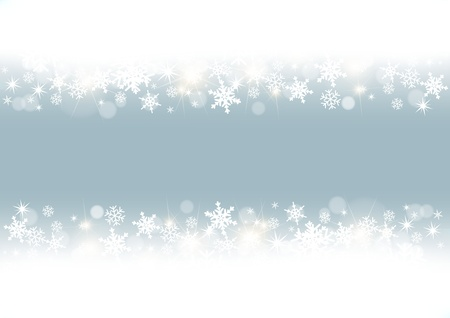 snowfall: white snowflakes frame