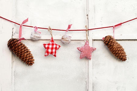 Christmas Decoration hanging on line  Stock Photo - 11274589