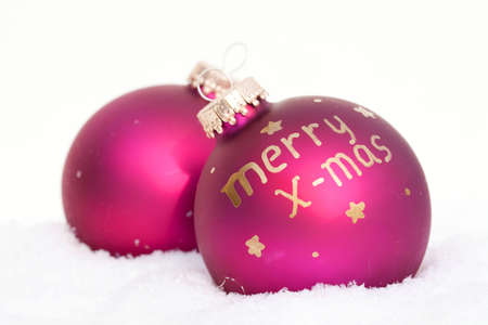 Merry Christmas baubles photo