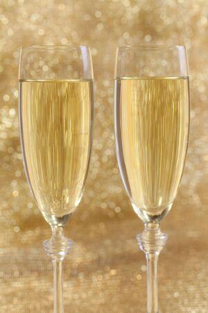 sylvester: Champagne glasses for new year on sylvester