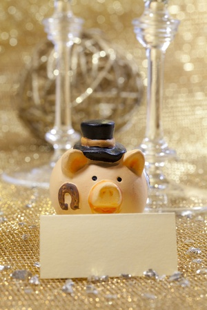 Happy new year pig  photo