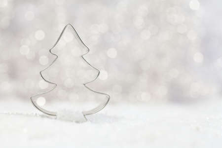 cookie cutter: metal tree cookie cutter with beautiful background  Stock Photo