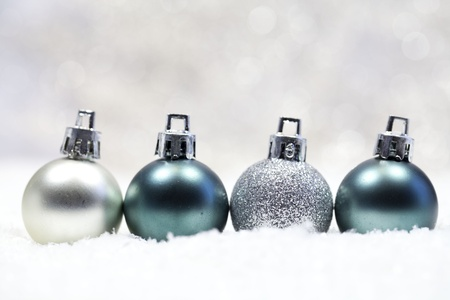 baubles on the snow  photo
