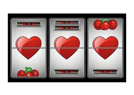 tragamonedas: El amor de máquinas tragamonedas Vectores