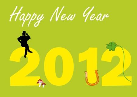 chimney sweep: 2012 with talisman  Illustration